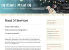 Maui Dj Services - Maui Website design on a budget